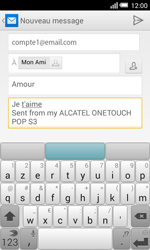 Alcatel Pop S3 (OT-5050X) - E-mail - Envoi d