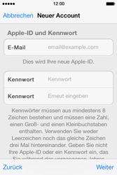 Apple iPhone 4 S mit iOS 7 - Apps - Konto anlegen und einrichten - Schritt 23
