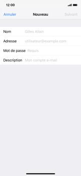 Apple iPhone X - iOS 12 - E-mail - Configuration manuelle - Étape 8