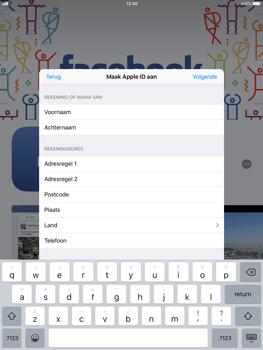 Apple ipad-air-met-ios-11-model-a1475 - Applicaties - Account aanmaken - Stap 18