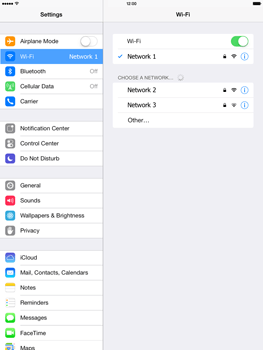 Apple iPad Retina iOS 7 - WiFi - WiFi configuration - Step 7