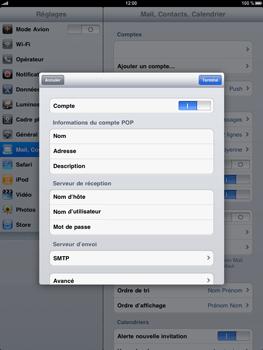 Apple iPad - E-mail - Configuration manuelle - Étape 10