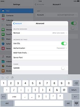 Apple iPad mini 4 iOS 10 - E-mail - Manual configuration - Step 28