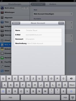 Apple iPad 4 - E-Mail - Konto einrichten - Schritt 7
