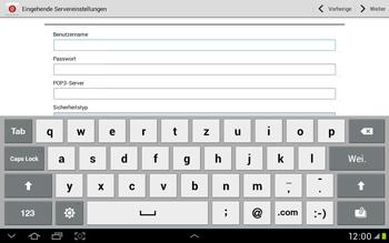 Samsung Galaxy Tab 2 10.1 - E-Mail - Manuelle Konfiguration - Schritt 7