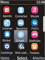 Nokia C2-05 - E-mail - E-mail versturen - Stap 3