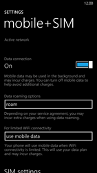 Nokia Lumia 930 - Internet and data roaming - Disabling data roaming - Step 5