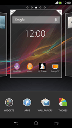 Sony Xperia V - Getting started - Installing widgets and applications on your start screen - Step 3