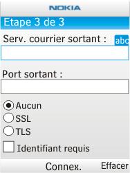 Nokia X2-00 - E-mail - Configuration manuelle - Étape 10