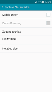 Samsung Galaxy Note 4 - Internet und Datenroaming - Prüfen, ob Datenkonnektivität aktiviert ist - Schritt 6