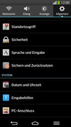 LG G Flex - Fehlerbehebung - Handy zurücksetzen - 7 / 12