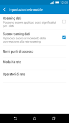 HTC One M8 - Internet e roaming dati - Disattivazione del roaming dati - Fase 6