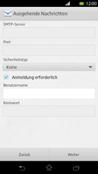 Sony Xperia T - E-Mail - Manuelle Konfiguration - Schritt 13