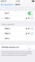 Apple iPhone 5c iOS 9 - WiFi - Configurazione WiFi - Fase 7