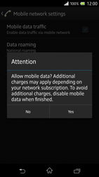 Sony Xperia Z - Internet and data roaming - How to check if data-connectivity is enabled - Step 7