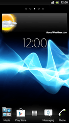 Sony Xperia S - Getting started - Installing widgets and applications on your start screen - Step 7