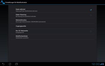 Asus Padfone - Ausland - Im Ausland surfen – Datenroaming - Schritt 5