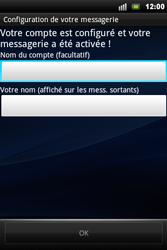 Sony Xperia Mini Pro - E-mail - Configuration manuelle - Étape 10