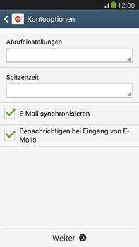 Samsung Galaxy Note III LTE - E-Mail - Manuelle Konfiguration - Schritt 17