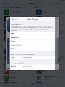 Apple iPad Air 2 - Apps - Konto anlegen und einrichten - 2 / 2