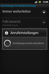 Sony Xperia Go - Anrufe - Rufumleitungen setzen und löschen - 8 / 9