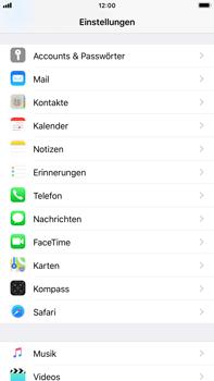 Apple iPhone 7 Plus - iOS 11 - Anmeldedaten hinzufügen/entfernen - 3 / 13