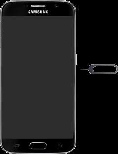 Samsung G920F Galaxy S6 - SIM-Karte - Einlegen - Schritt 2