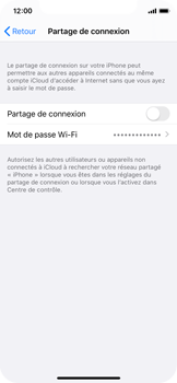 Apple iPhone X - iOS 13 - WiFi - Comment activer un point d'accès WiFi - Étape 6