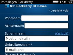 BlackBerry 9900 Bold Touch - BlackBerry activeren - BlackBerry ID activeren - Stap 8