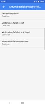Sony Xperia 10 - Anrufe - Rufumleitungen setzen und löschen - Schritt 9