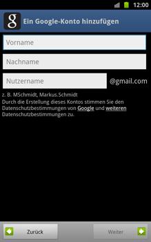 Samsung Galaxy Note - Apps - Konto anlegen und einrichten - 7 / 18