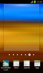 Samsung Galaxy S II - Operazioni iniziali - Installazione di widget e applicazioni nella schermata iniziale - Fase 4