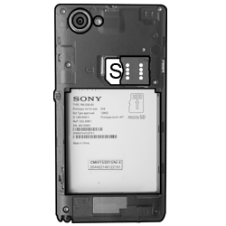 Sony Xperia L - SIM-Karte - Einlegen - Schritt 4