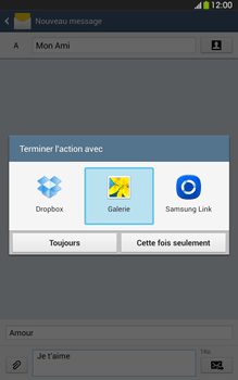 Samsung Galaxy Tab 3 8 4G - Contact, Appels, SMS/MMS - Envoyer un MMS - Étape 16