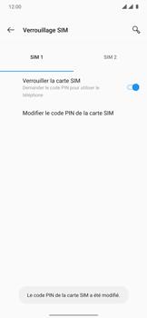 OnePlus 7T Pro - Sécuriser votre mobile - Personnaliser le code PIN de votre carte SIM - Étape 12