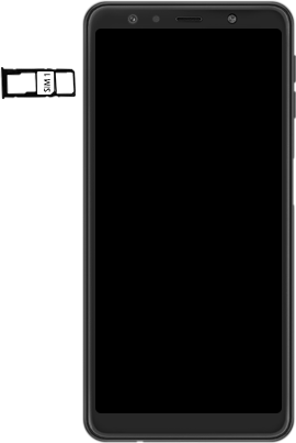 Samsung Galaxy A7 (2018) - Appareil - comment insérer une carte SIM - Étape 4