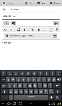 Samsung P3100 Galaxy Tab 2 7-0 - E-mail - Sending emails - Step 15