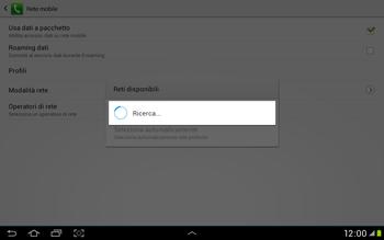 Samsung Galaxy Tab 2 10.1 - Rete - Selezione manuale della rete - Fase 7