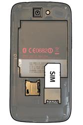 HTC A8181 Desire - SIM-Karte - Einlegen - Schritt 3