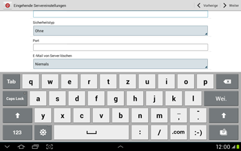 Samsung Galaxy Tab 2 10.1 - E-Mail - Manuelle Konfiguration - Schritt 8