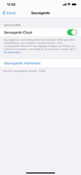Apple iPhone XS Max - iOS 13 - Données - Créer une sauvegarde avec votre compte - Étape 12