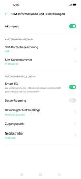 Oppo Find X2 Pro - Netzwerk - So aktivieren Sie eine 5G-Verbindung - Schritt 6