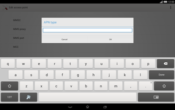 Sony Xperia Tablet Z2 LTE - MMS - Manual configuration - Step 13