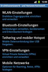 Samsung S5830 Galaxy Ace - Netzwerk - Netzwerkeinstellungen ändern - Schritt 5