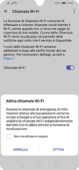 Huawei P30 Lite - WiFi - Attivare WiFi Calling - Fase 8