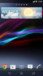 Sony Xperia Z1 - Startanleitung - Installieren von Widgets und Apps auf der Startseite - Schritt 7