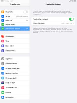 Apple ipad-10-2-7th-gen - WiFi - So aktivieren Sie einen WLAN-Hotspot - Schritt 8