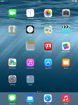 Apple iPad mini - iOS 8 - Getting started - Personalising your Start screen - Step 4