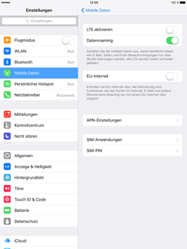 Apple iPad Pro 9.7 inch - Ausland - Im Ausland surfen – Datenroaming - Schritt 8