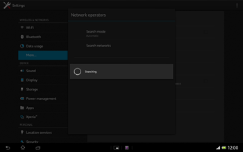 Sony Xperia Tablet Z LTE - Network - Manual network selection - Step 7
